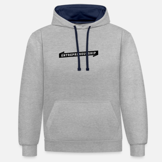 Self Employed Hoodies & Sweatshirts - entrepreneur - Unisex Contrast Hoodie heather grey/navy