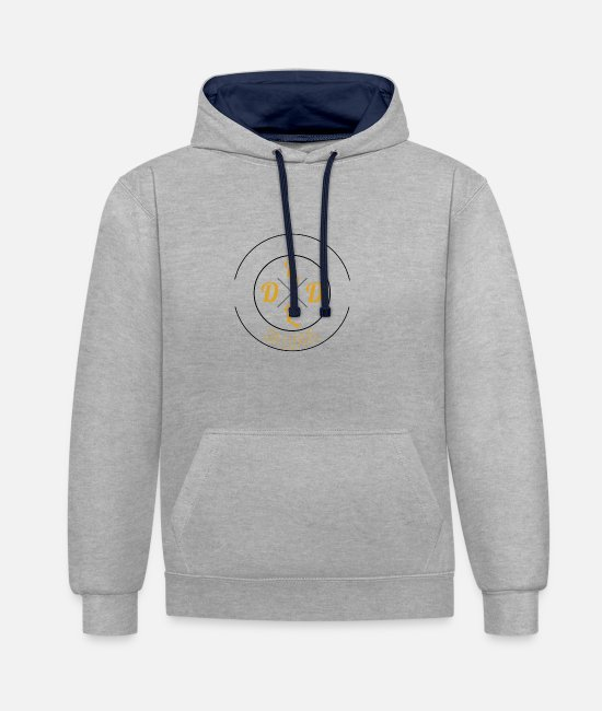Luxury Hoodies & Sweatshirts - DA LUXURY - Unisex Contrast Hoodie heather grey/navy