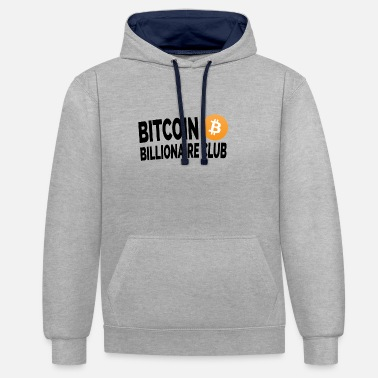 Wealth Bitcoin Club - Unisex Contrast Hoodie