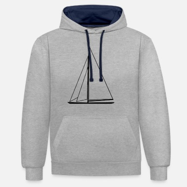 Sail Boat sail boat - Unisex Contrast Hoodie
