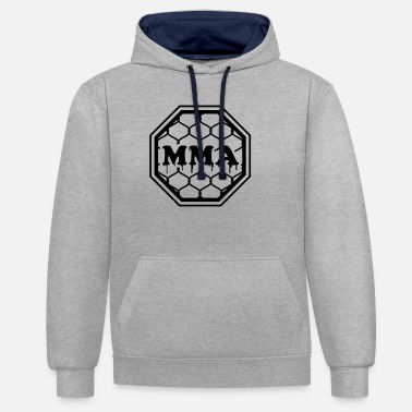 Octagon MMA - Mixed Martial Arts - Octagon - Unisex Contrast Hoodie