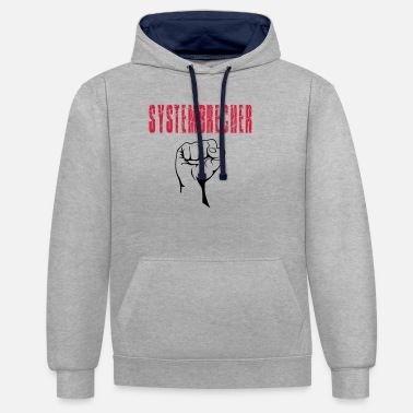System breaker Faust - In all vector colors - Unisex Contrast Hoodie