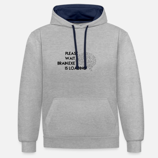 Nerd Hoodies & Sweatshirts - Nerd - Unisex Contrast Hoodie heather grey/navy