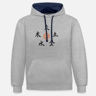 Buddhism Five Elements - Unisex Contrast Hoodie