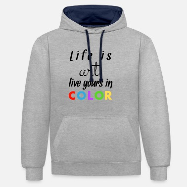 Colourful Coloured - Unisex Contrast Hoodie
