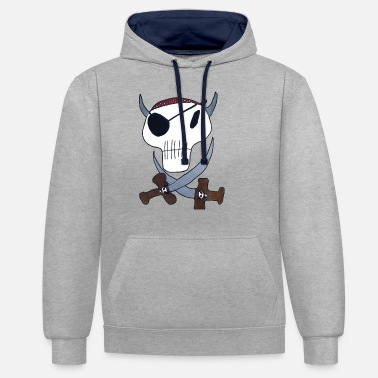Pirate Cloth Priate clothing - Unisex Contrast Hoodie