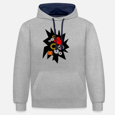 Twentyfive mechanical heart - Unisex Contrast Hoodie