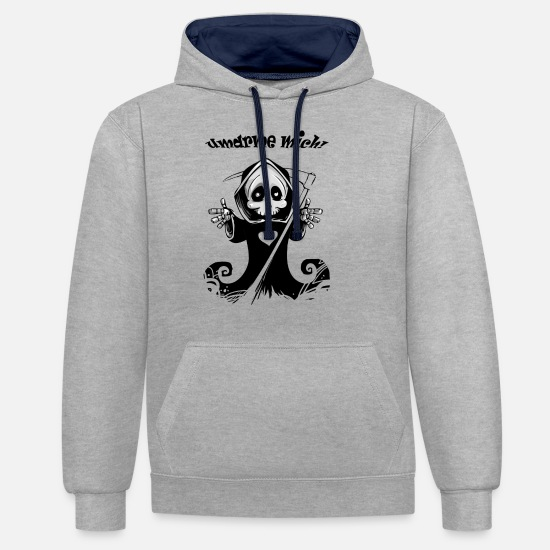 Gift Idea Hoodies & Sweatshirts - The death - Unisex Contrast Hoodie heather grey/navy