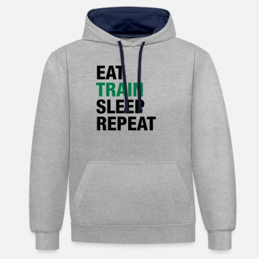 Eat Train Sleep Repeat - Unisex Contrast Hoodie