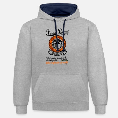 Federal Reserve Federal Reserve System Since 1913 - Unisex Contrast Hoodie