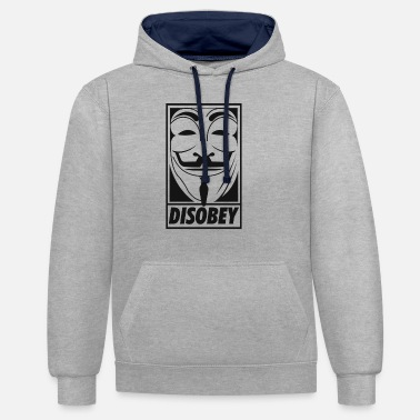 Anonymous disobey - Unisex Contrast Hoodie