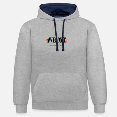 Leopoard Awesome PM Fashion Statement Design - Unisex Contrast Hoodie