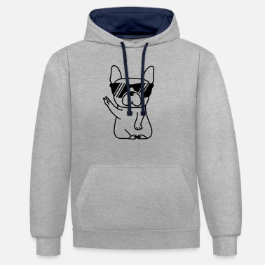Bulldog Bully Cool - Unisex contrast hoodie