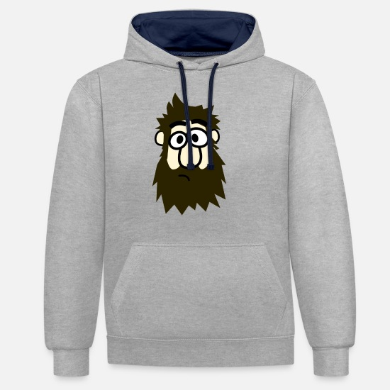 Hipster Hoodies & Sweatshirts - hipster - Unisex Contrast Hoodie heather grey/navy
