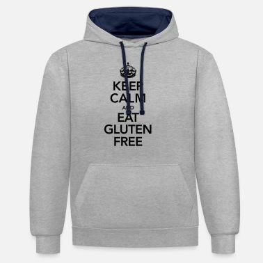 Dietary Cook Keep Calm And Eat Gluten Free - Unisex Contrast Hoodie