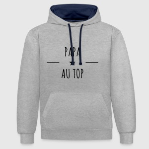 Papa au top - Sweat-shirt contraste