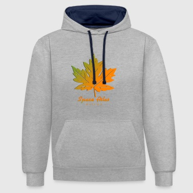 Space Atlas Long Sleeve T-Shirt Autumn Leaves - Contrast Colour Hoodie