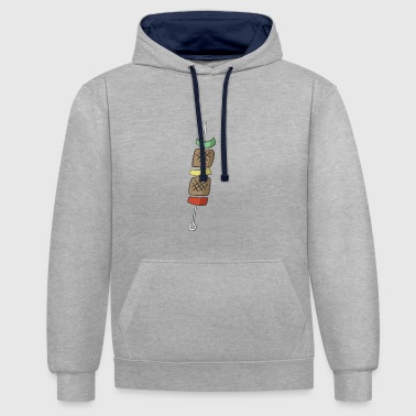 barbecue - Contrast Colour Hoodie