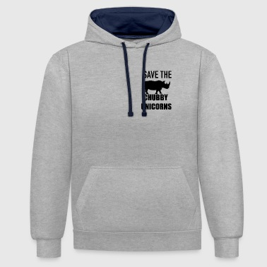 Save the chubby unicorn - Contrast Colour Hoodie