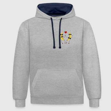 The Bananas lovers - Contrast Colour Hoodie