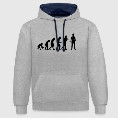 Mason Walls Architect Construction Worker Gift Construction - Contrast Colour Hoodie