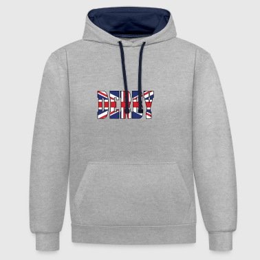 DERBY UK - Contrast Colour Hoodie