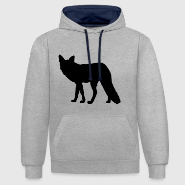 Silhouette Fox - Sweat-shirt contraste