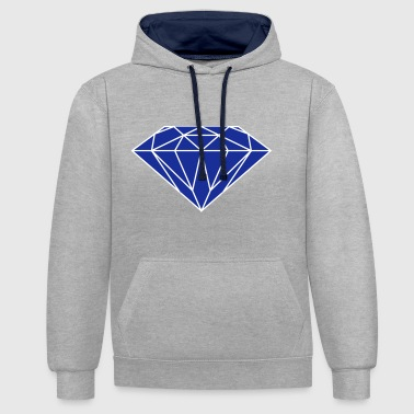 diamant bleu - Sweat-shirt contraste