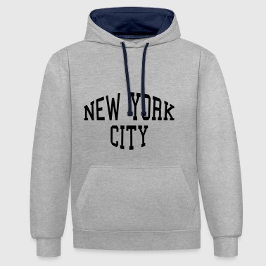 New York City lettering - Contrast Colour Hoodie