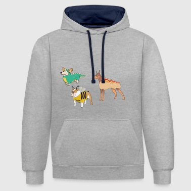 chiens - Sweat-shirt contraste