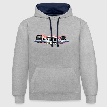 Cadillac King of Rock and Roll - Contrast Colour Hoodie