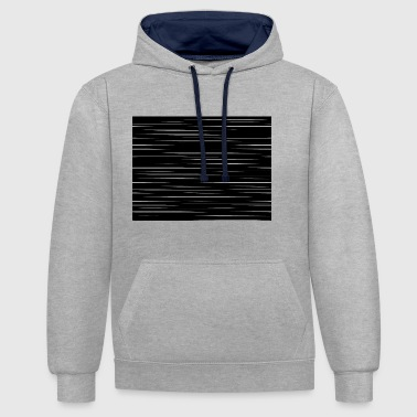 abstract - Contrast Colour Hoodie