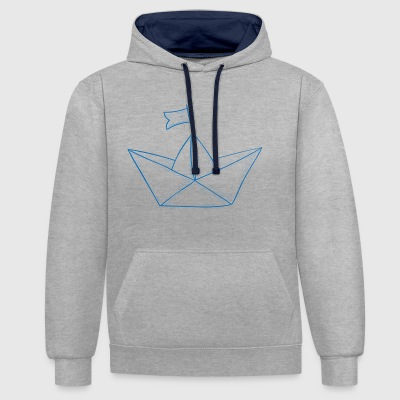 Paper boat # 1 - Contrast Colour Hoodie