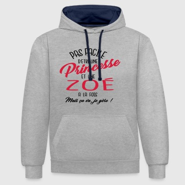 Princesse et Zoé - Sweat-shirt contraste