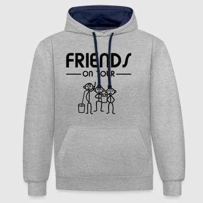 Men Party - Friends on Tour - Contrast hoodie