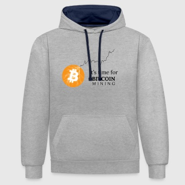 Bitcoin Mining - Contrast Colour Hoodie
