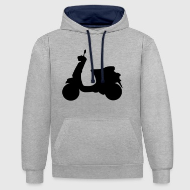 Scooter Motorcycle | Motorcycle | Italy | moped - Contrast Colour Hoodie