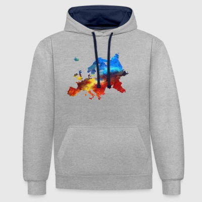 Europe - Contrast Colour Hoodie