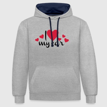 2541614 113587677 voiture - Sweat-shirt contraste
