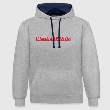 Netherlands - Contrast Colour Hoodie