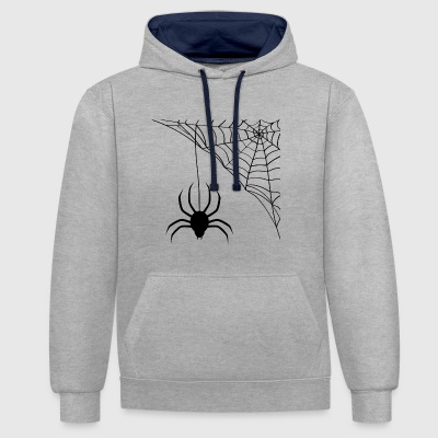 spider - Contrast Colour Hoodie