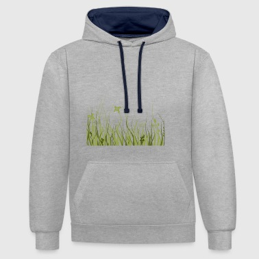 Green meadow - Contrast Colour Hoodie
