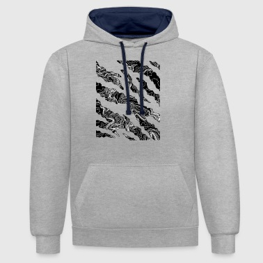 fissures noir - Sweat-shirt contraste