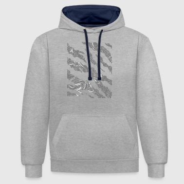 fissures gris - Sweat-shirt contraste