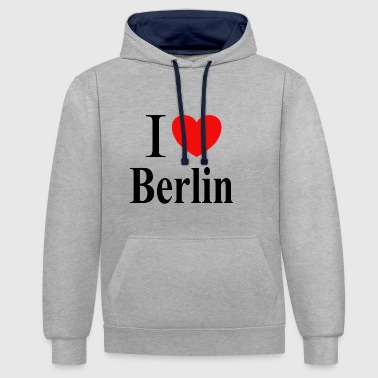 J'AIME BERLIN - Sweat-shirt contraste