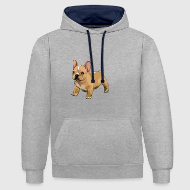 French bulldog - Contrast Colour Hoodie