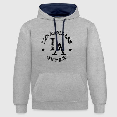 Los Angeles - LA Style - Dance Shirt - Contrast Colour Hoodie