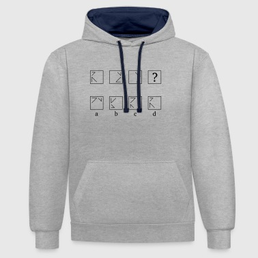 Continue logically - Contrast Colour Hoodie