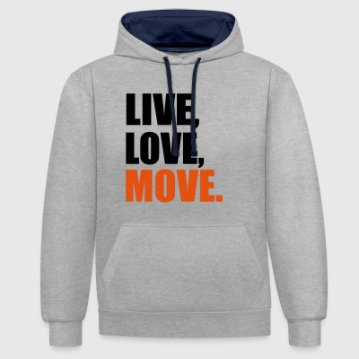 2541614 13914287 mouvement - Sweat-shirt contraste