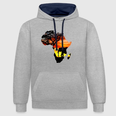 carte d'amour Afrique - Sweat-shirt contraste